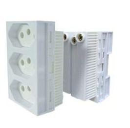 Conjunto 3 tomadas 10A 250V - MONOBLOCO - Linha Slim Ilumi - 86123