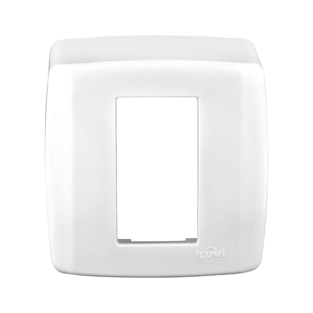 Conjunto Base + Moldura 1 Módulo - Box Slim - ILUMI