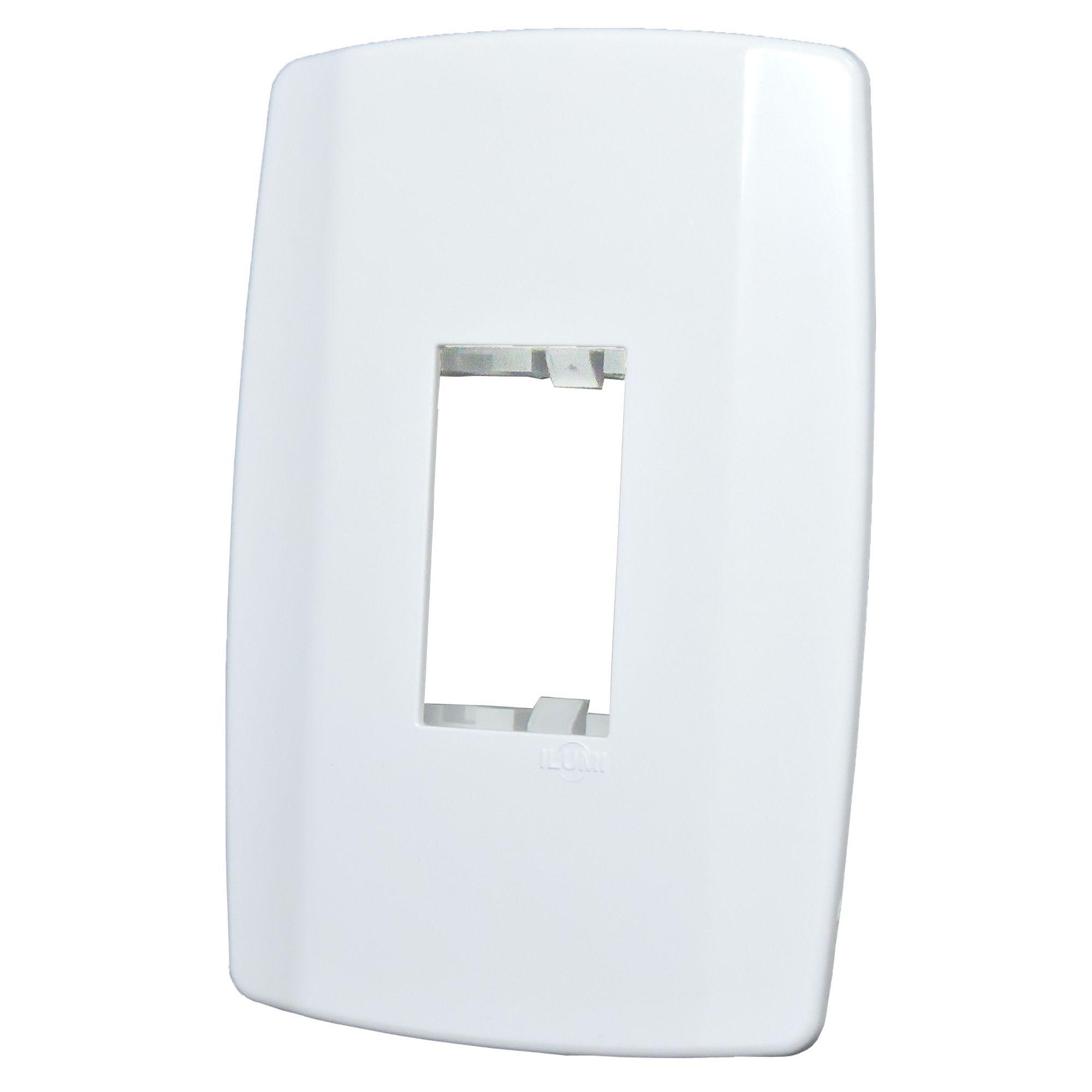 Conjunto Interruptor Simples 10A 250V Vertical Slim