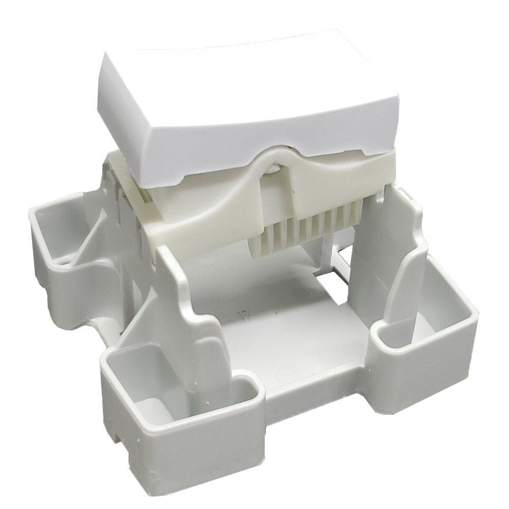 Conjunto Interruptor Simples Sobrepor 10A 250V - BOX SLIM - 8417 - ILUMI
