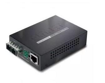 Conversor de Mídia GT 802 Multimodo SC 10/100/1000 Base TX 1000Base SX Planet