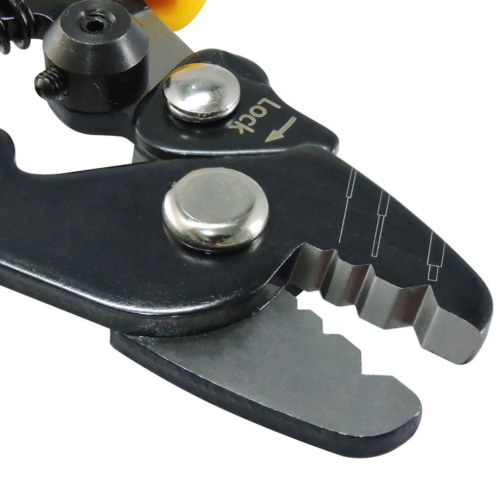 Decapador de Fibra Óptica 3 furos Laranja e Preto 6.38'' - CT-S144H
