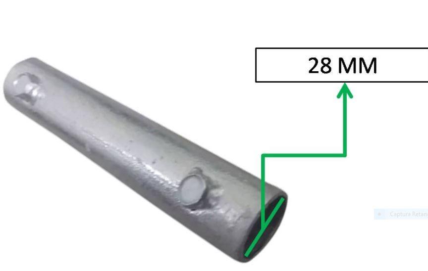Emenda para Suporte de Antena Galvanizada a Fogo 25mm