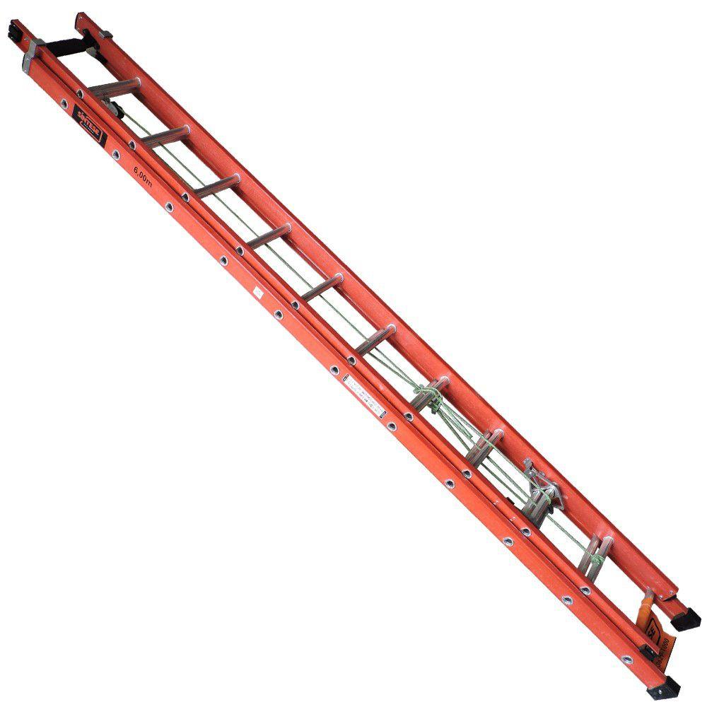 Escada Extensível em Fibra de Vidro 3,60 X 6,00 M - Sintese - FRETE GRATIS