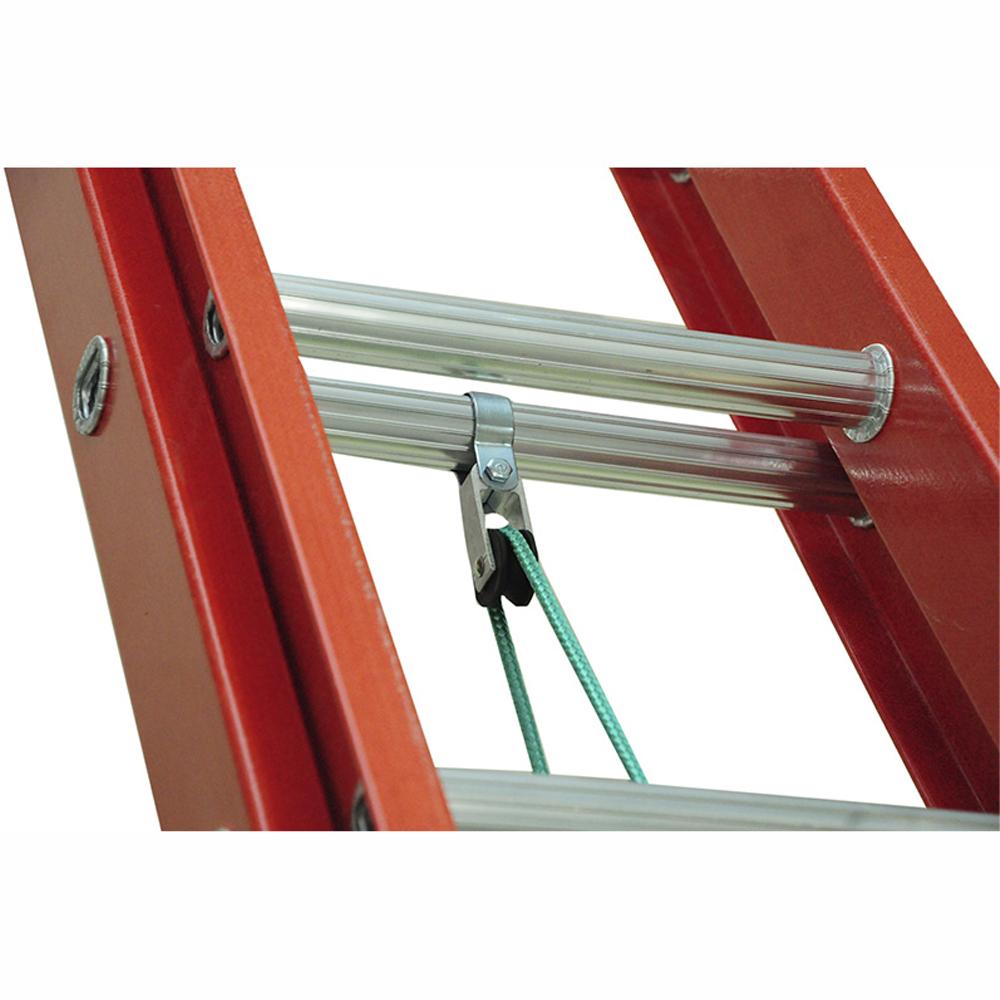 Escada Extensível em Fibra de Vidro degrau tipo D em alumínio 3,60 X 6,00M W Bertolo