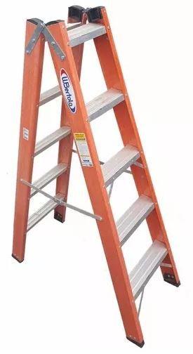 Escada Tesoura Dupla Profissional em Fibra de Vidro - 1,50M