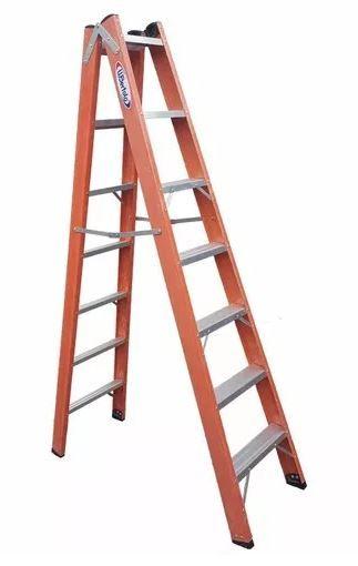 Escada Tesoura Dupla Profissional em Fibra de Vidro - 2,10 M