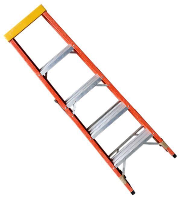 Escada Tesoura residencial em fibra de vidro 1,50M - 5 Degraus