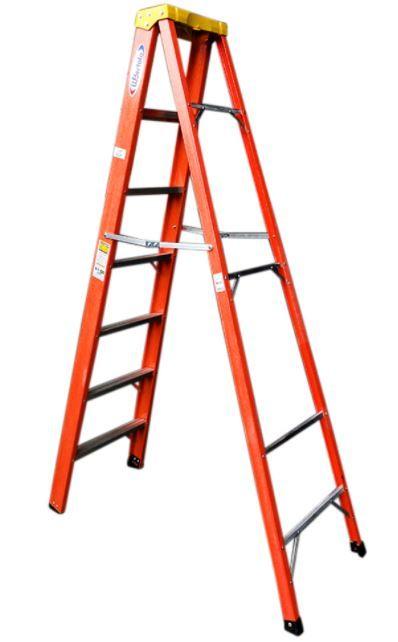 Escada Tesoura residencial em fibra de vidro 2,10M - 7 Degraus