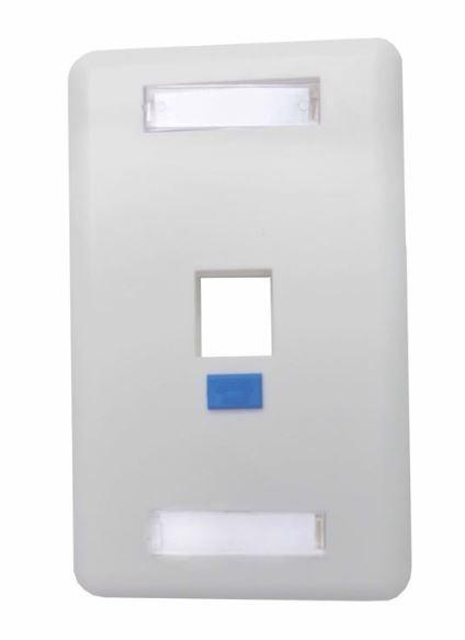 Espelho 4x2 01 Saída branco fixo