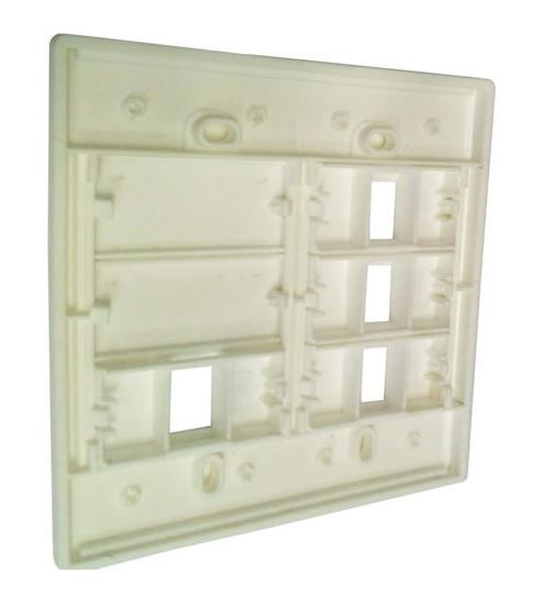 Espelho 4x4 04 Saídas RJ Modulo Removível Branco - AK