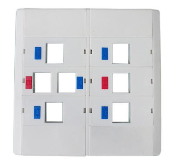 Espelho 4x4 07 Saídas RJ Modulo Removível Branco - AK