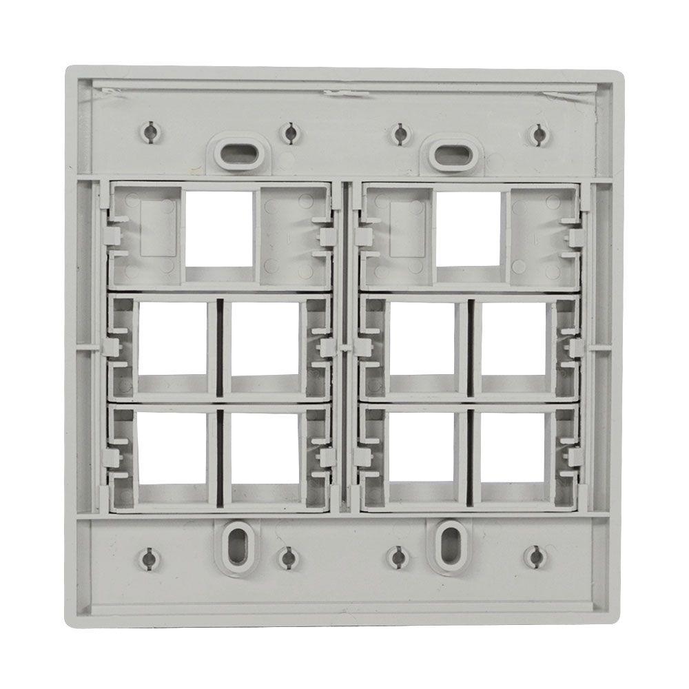 Espelho 4x4 10 Saídas RJ Modulo Removível Branco - AK