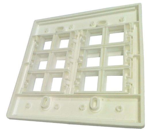 Espelho 4x4 12 Saídas RJ Modulo Removível Branco - AK