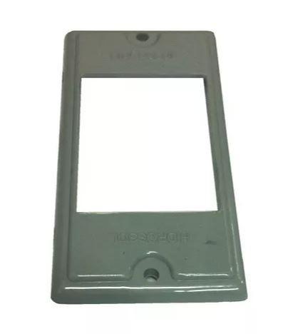Espelho em PVC p/ tomada elétrica Cinza - Hidrossol
