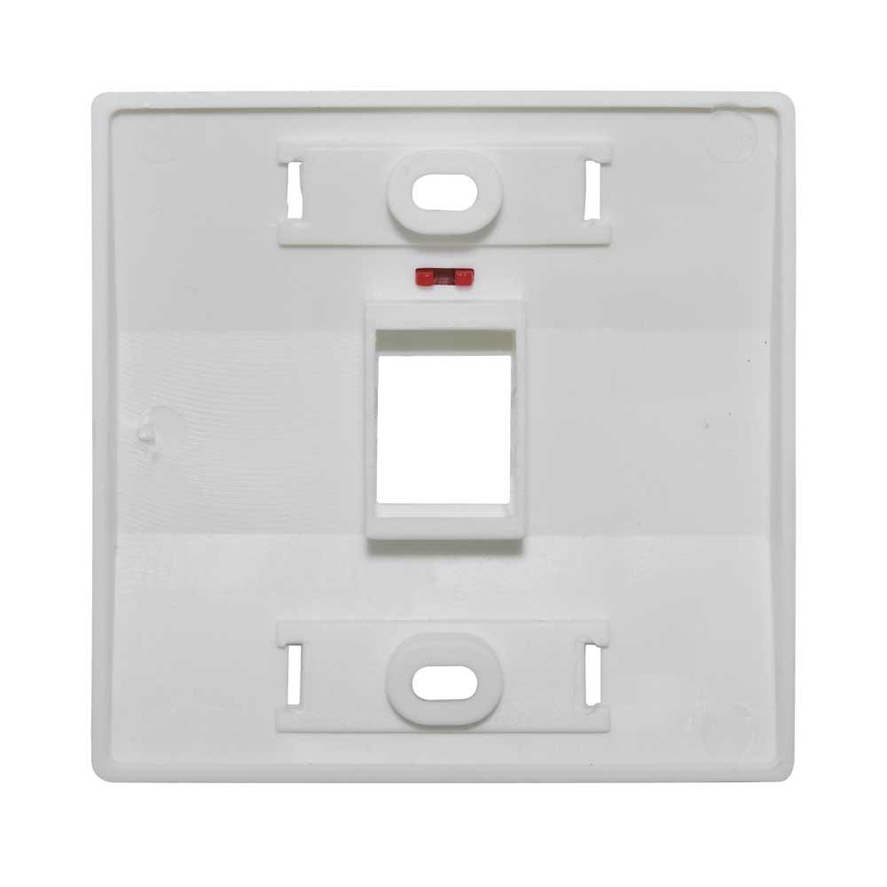 Espelho para Caixa de Sobrepor 3x3 fixo c/ 1 saída branco - S