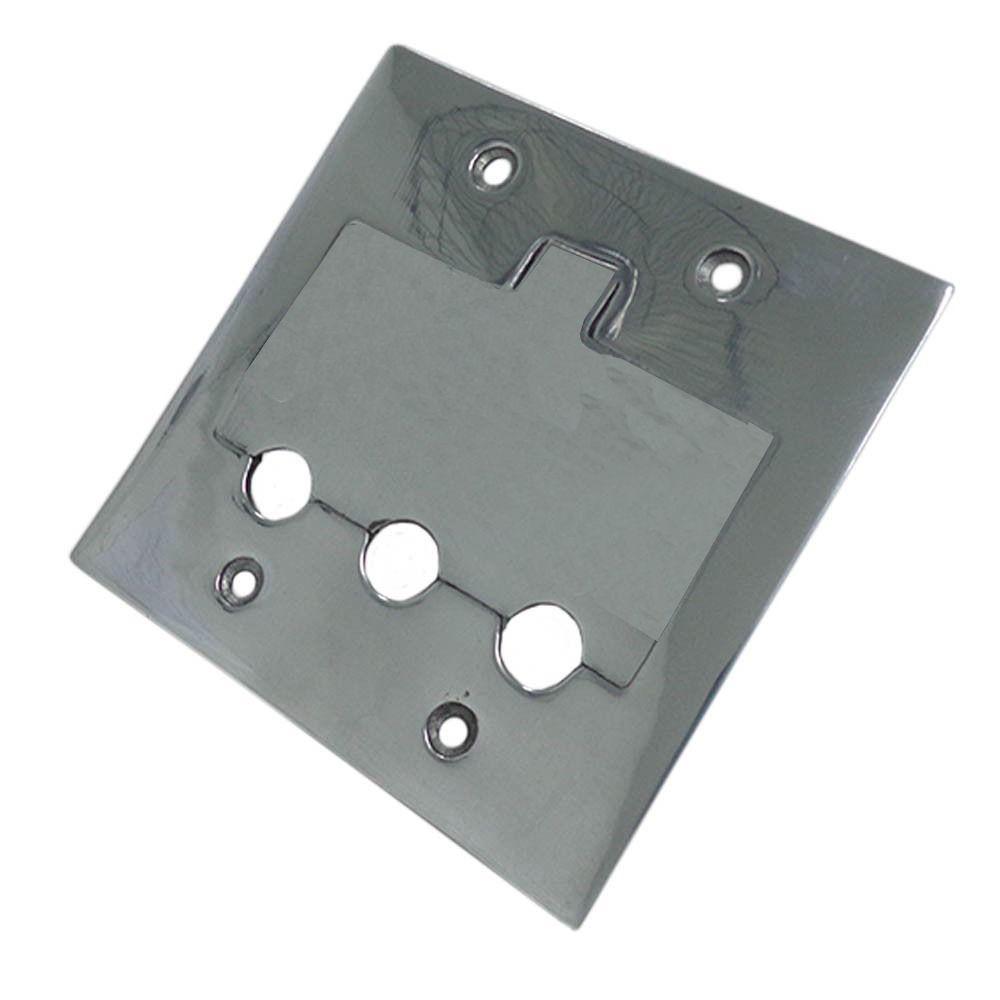 Espelho Polido 4 X 4 Alumínio Placa Piso - 3 Saídas Rj