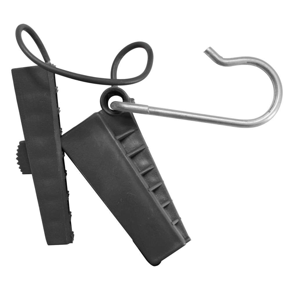 Esticador Plástico com Abertura Lateral para cabo mini Drop Óptico FTTH Pier Telecom - Preto