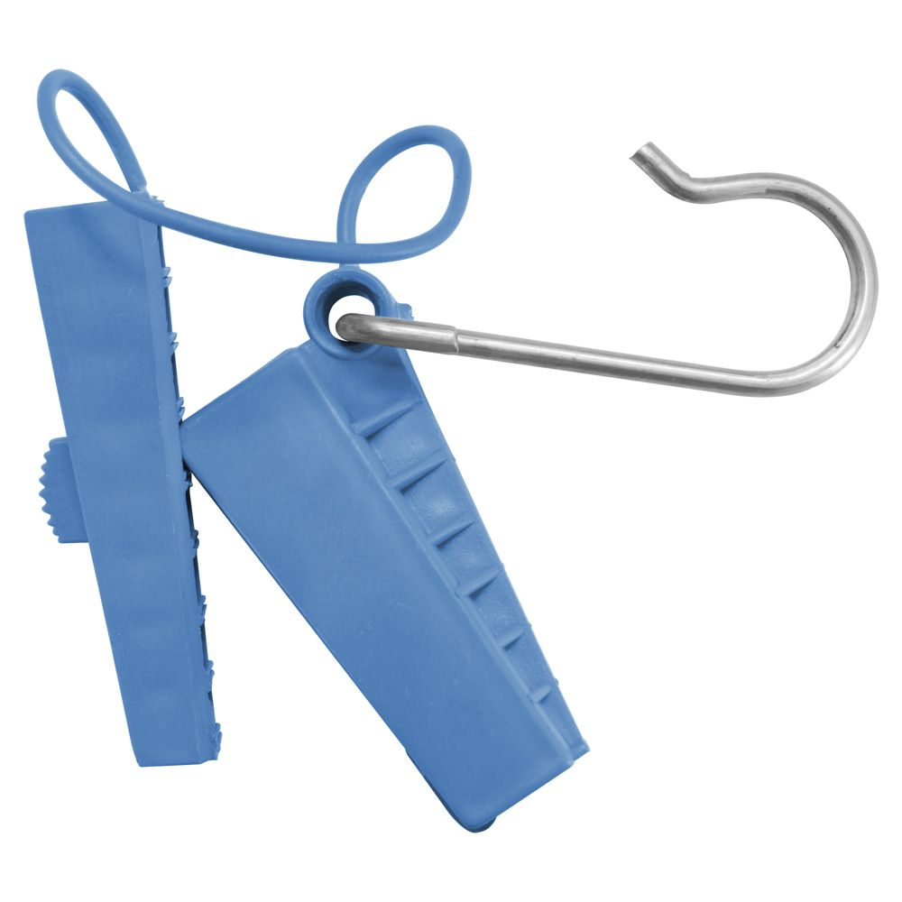 Esticador Plástico com Abertura Lateral para cabo mini Drop Óptico FTTH Pier Telecom - AZUL