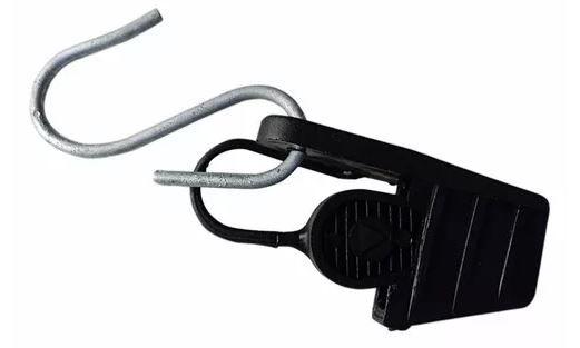 Esticador Plástico Tipo Cunha ou alça plástica para provedor de Internet cabo mini drop óptico ou UTP - Preto