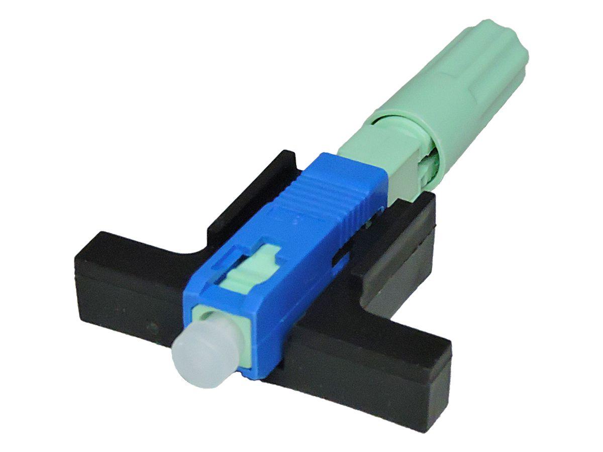 Fast Connector Rosca Verde e Boot SC UPC SM Azul