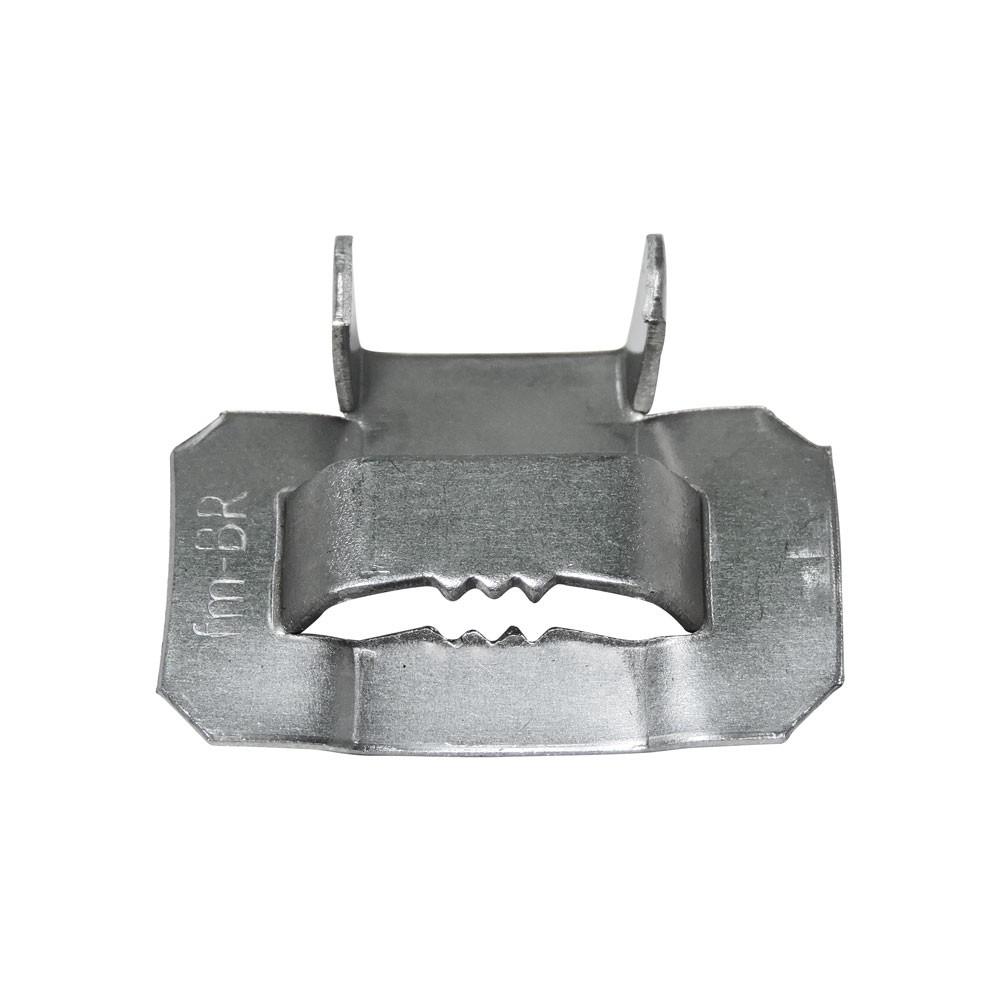 "Fecho de Aço Inox 1/2"" para fita Fusimec"