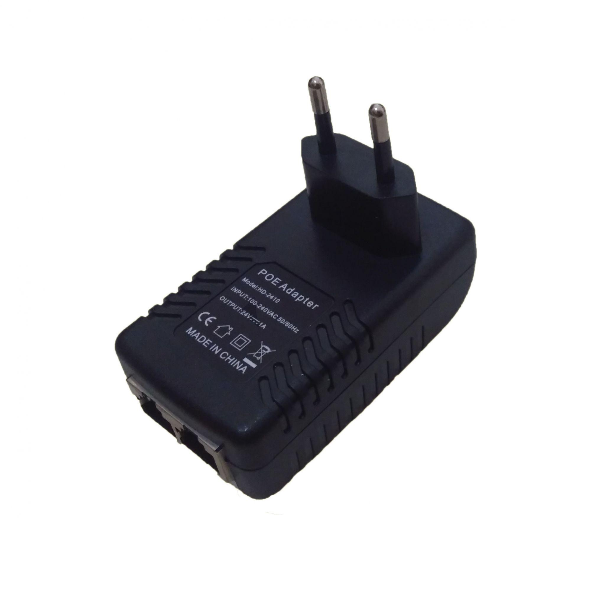 Fonte POE 24V x 1A P/ roteadores rádio Ubiquiti pino padrão BR