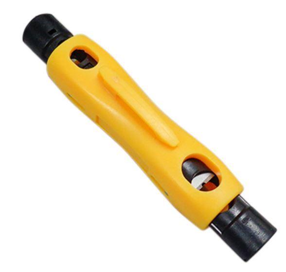 HY-323 Decapador para cabo coaxial tipo caneta Amarelo