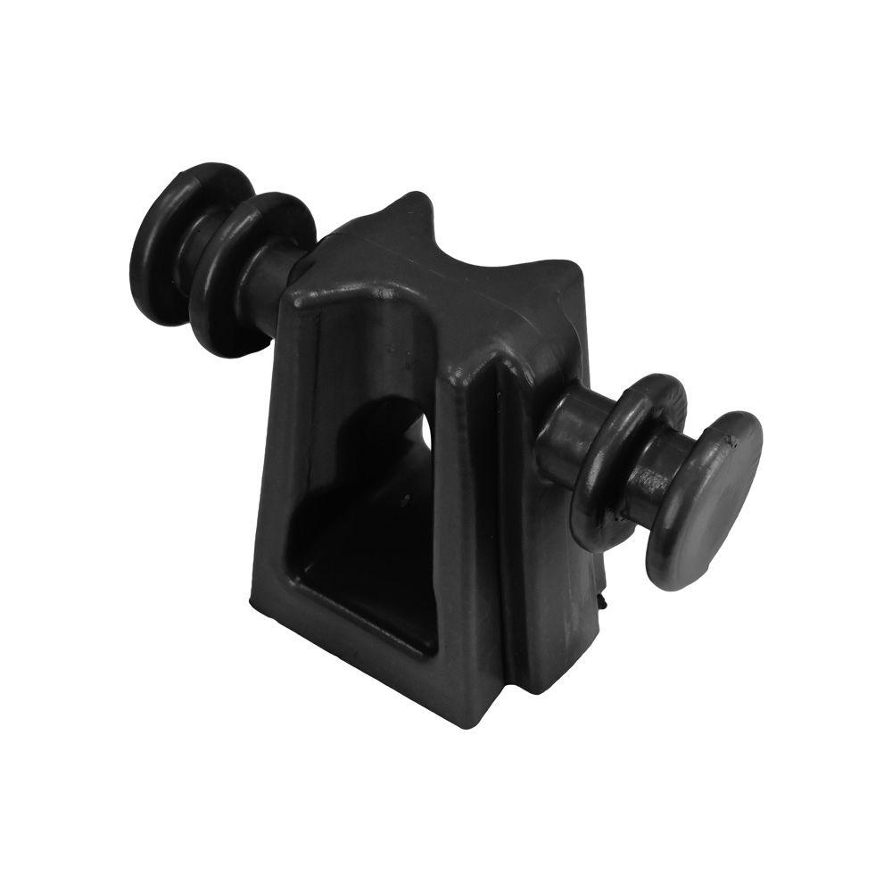 Isolador suporte SIPA 4 vias em plástico injetado PP - Preto