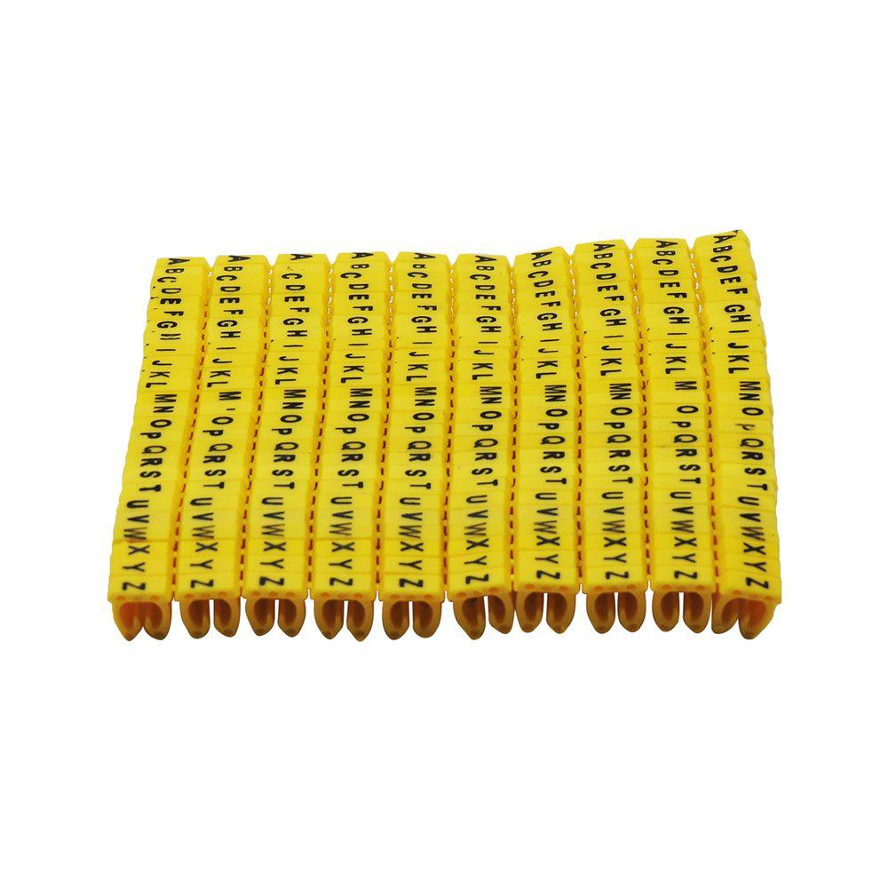 Kit Anilha de identificação de cabos de rede Letras e Números (510 Peças)