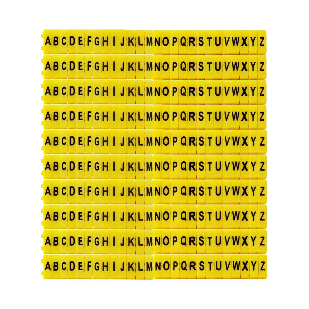 Kit Anilha Letra e Números duplo (1020 Peças)