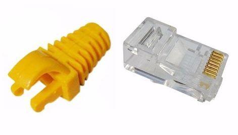 Kit Capa Snap Amarela + conector RJ45