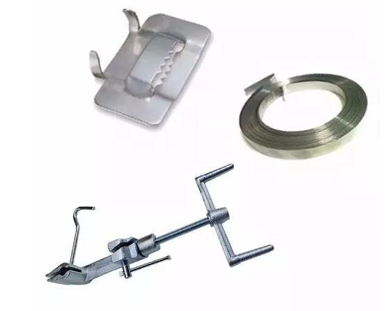 Kit Ferramenta - Máquina Fusimec + Rolo 25m Fita 1/2 + Fecho 1/2