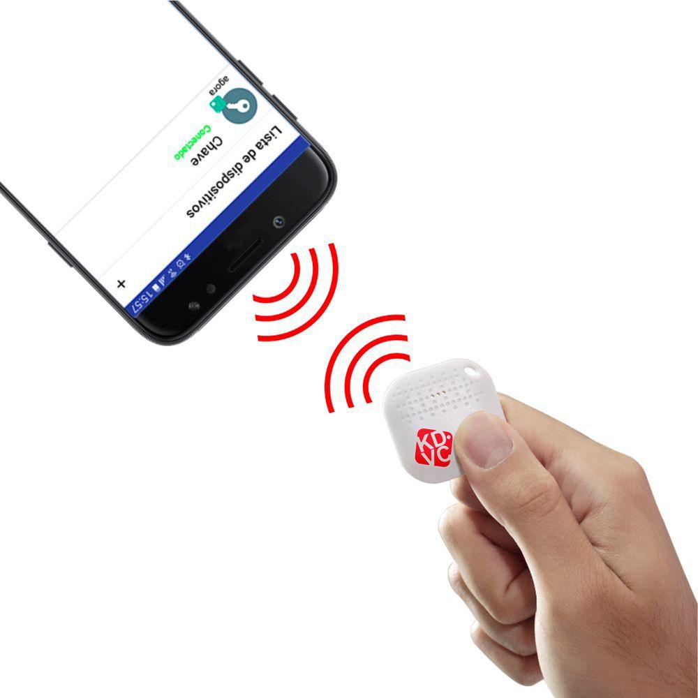 Localizador bluetooth para celular carteira chaveiro ou PET KDVC Motion - Branco