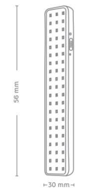 Luminária de Emergência 60 Leds - Elgin
