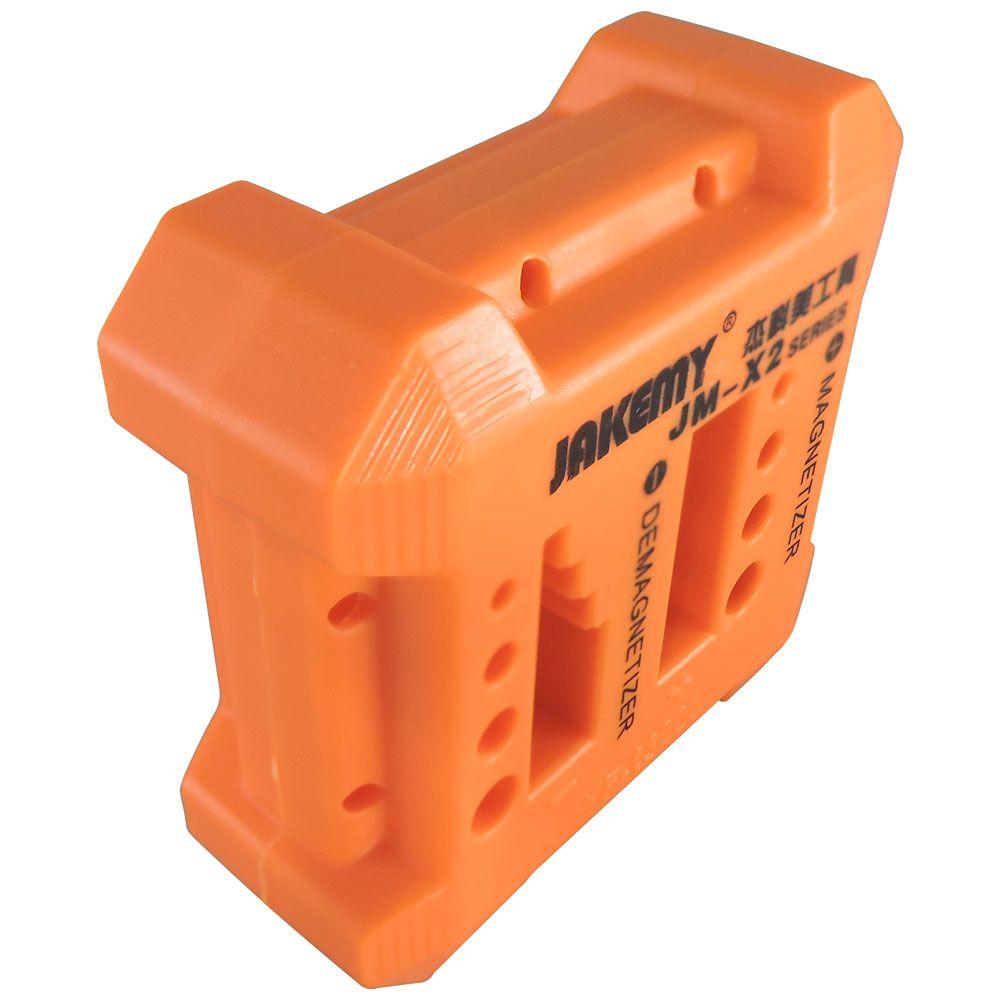 Magnetizador e desmagnetizador Jakemy  JM-X2 laranja