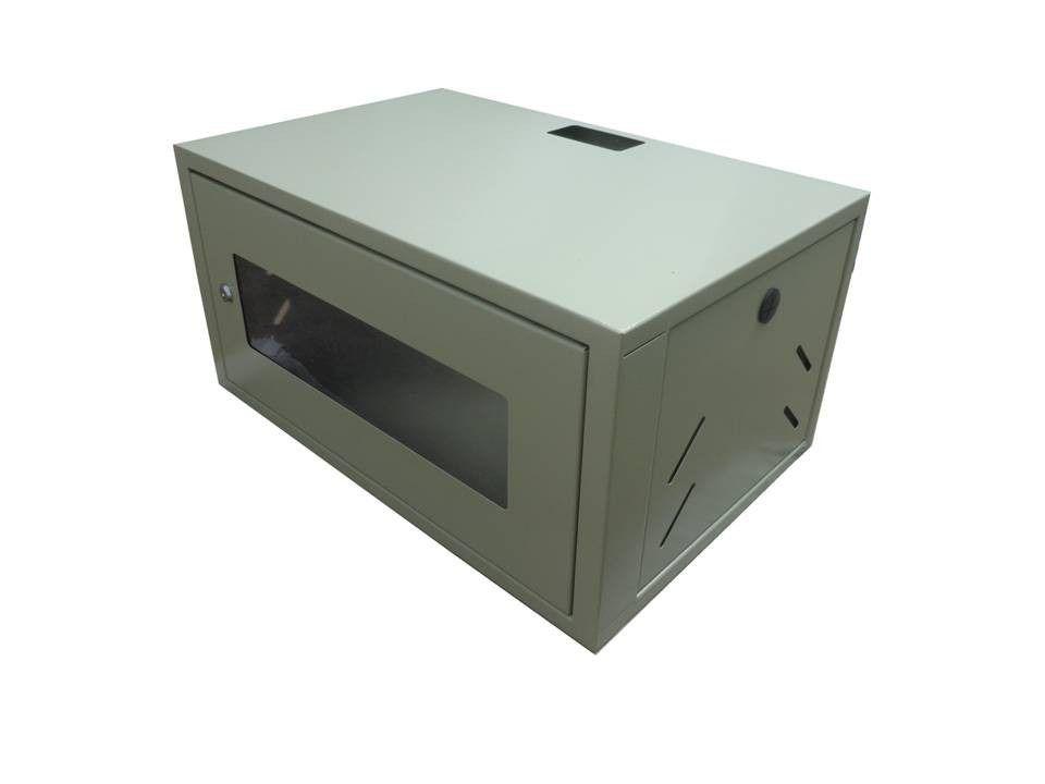 """Mini Rack padrão 19"""" para cabeamento estruturado e CFTV 3U x 330 mm - Bege"""