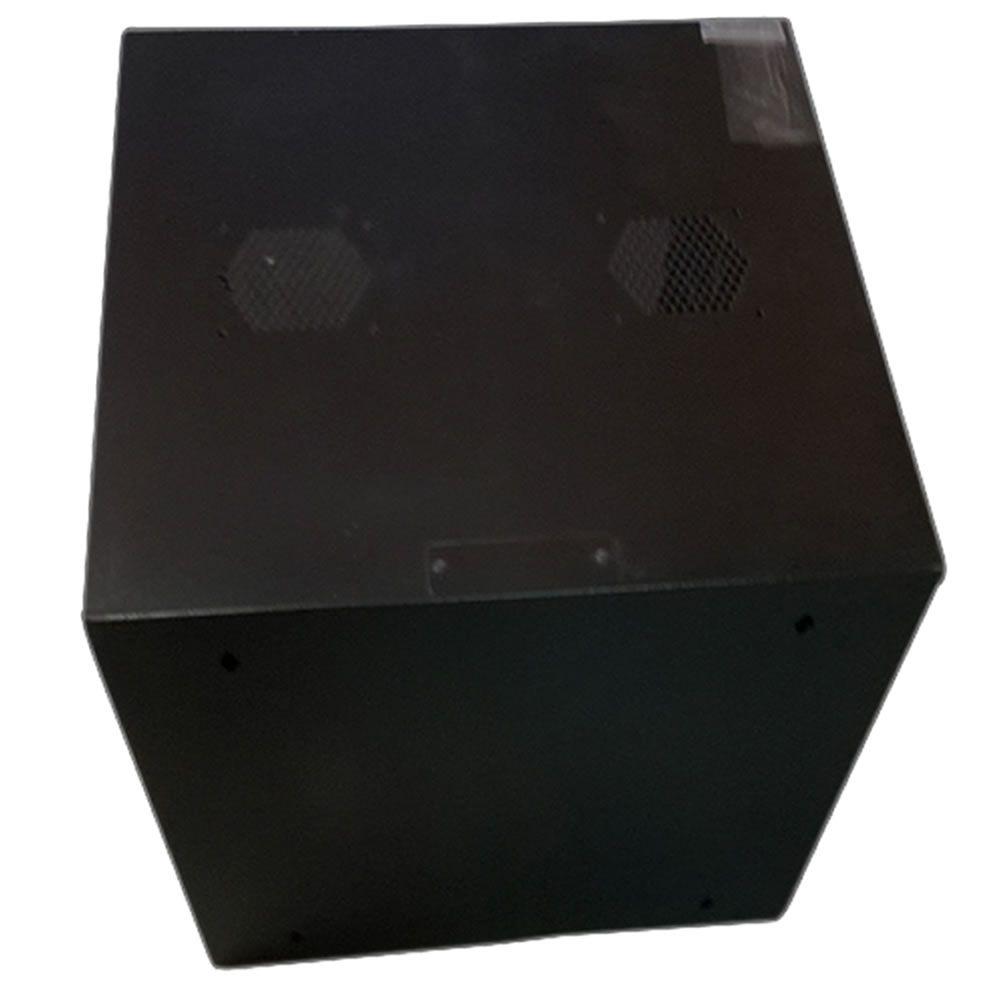 Mini RACK de Parede Padrão 19'' Para Cabeamento Estruturado e CFTV 12U X 670mm Preto Texturizado