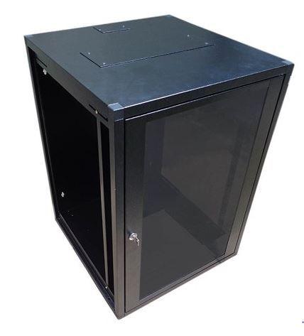 Mini Rack de parede 16U X 470 preto texturizado - W