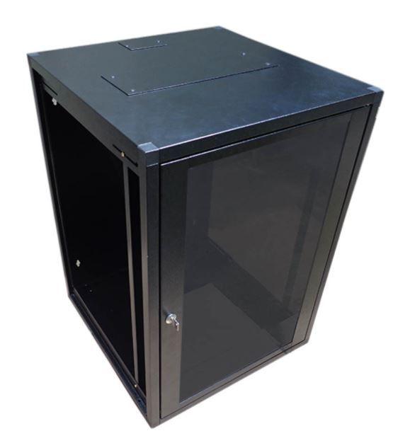 Mini Rack de parede 16U X 570 preto texturizado - W