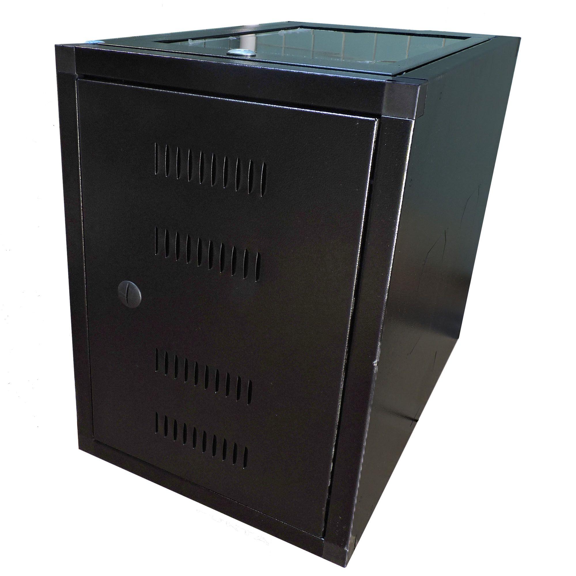 Mini Rack de parede 6U X 570 preto texturizado - W