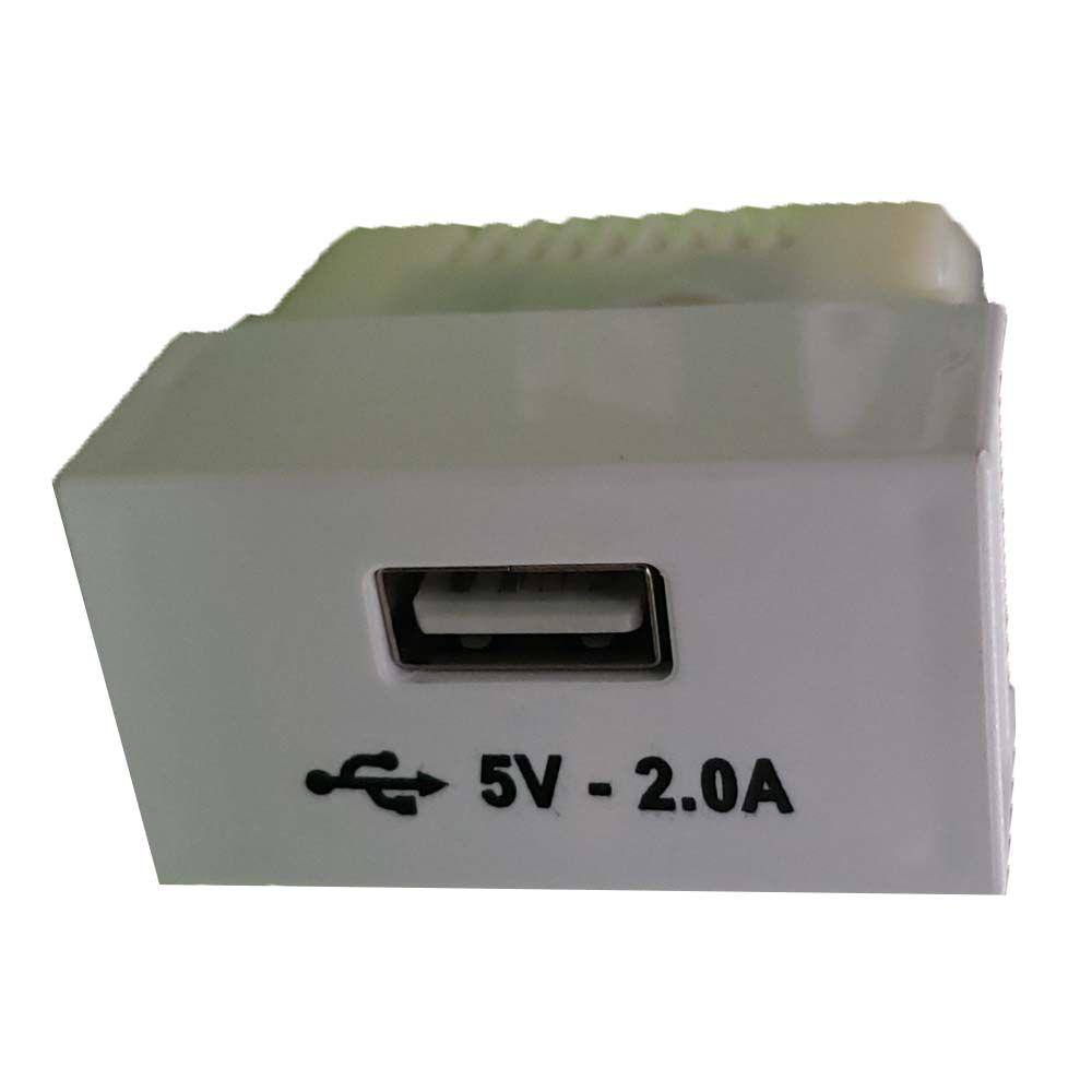 Módulo de tomada USB - Linha Slim Ilumi