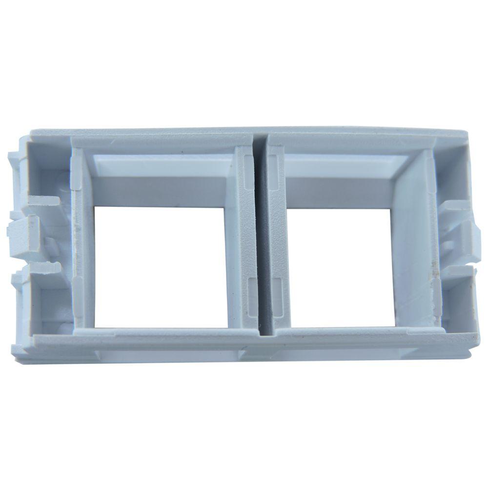 Módulo para espelho 02 Saídas Branco