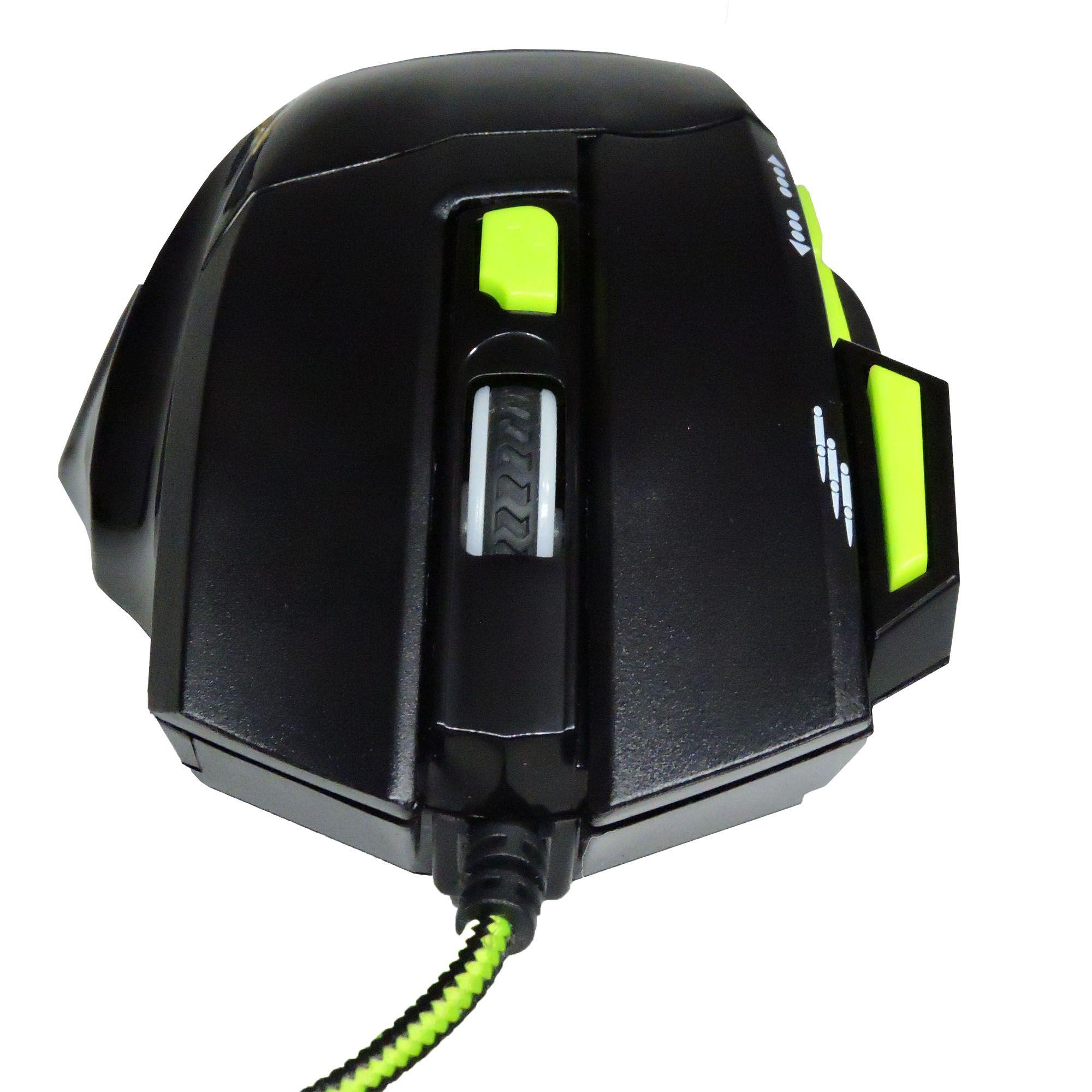 Mouse Gamer Fire Button Fio Nylon 2400 Dpi Multilaser