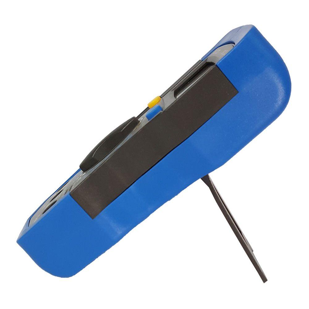 Multímetro multiteste digital profissional portátil LCD de 3 ½ dígitos com iluminação de fundo - Azul