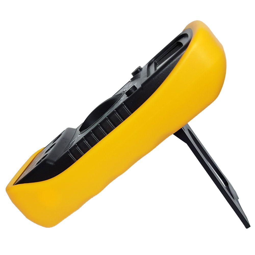 Multímetro digital portátil LCD de 3 ½ dígitos com iluminação de fundo MD-200L Amarelo