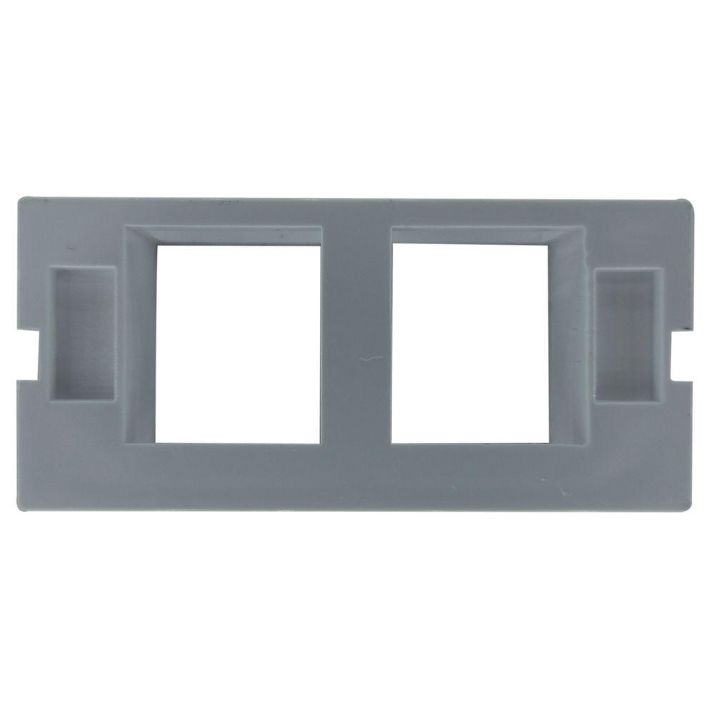 Pacote c/ 10 Pçs de Espelho 4x2 06 Saidas RJ Modulo Removível Branco