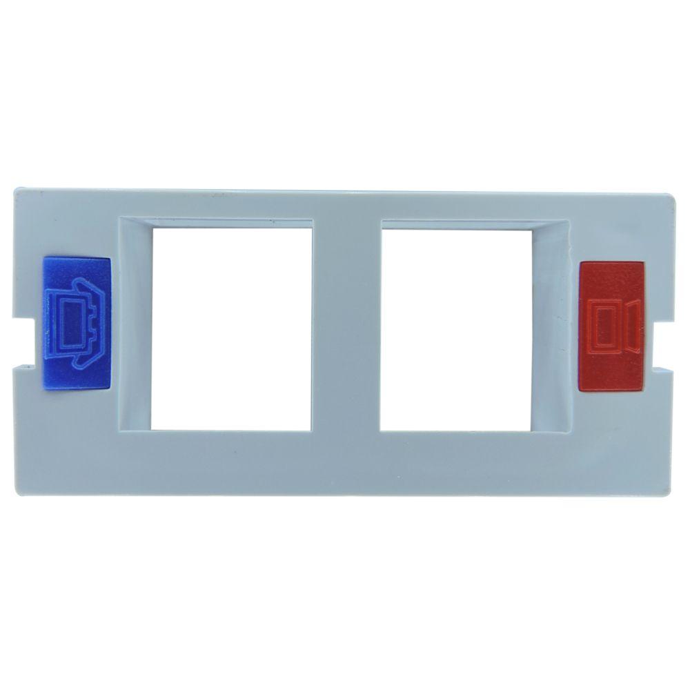 Pacote c/ 15 Pçs de Espelho 4x2 06 Saidas RJ Modulo Removível Branco