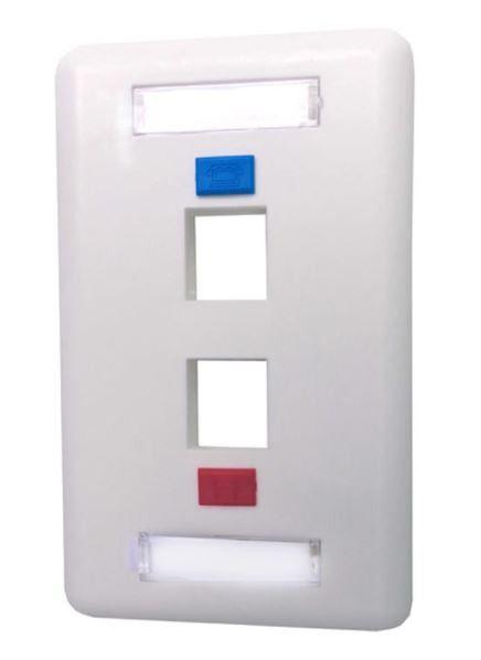 Pacote c/ 30 Pçs de Espelho 4x2 (12 cm x 7,5 cm) 2 saídas branco fixo ief0002