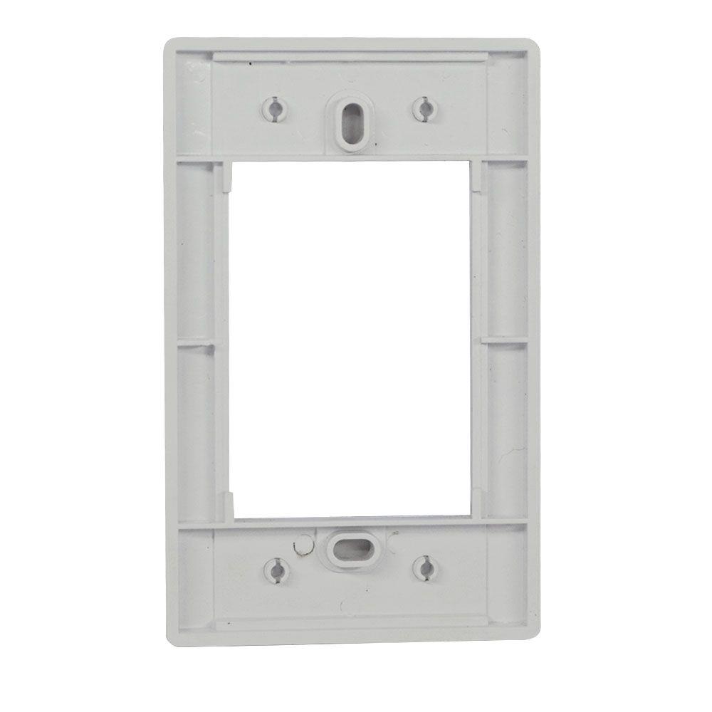 Pacote c/ 5 Pçs de Espelho 4x2 06 Saidas RJ Modulo Removível Branco